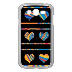Colorful harts pattern Samsung Galaxy Grand DUOS I9082 Case (White)