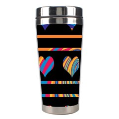 Colorful harts pattern Stainless Steel Travel Tumblers