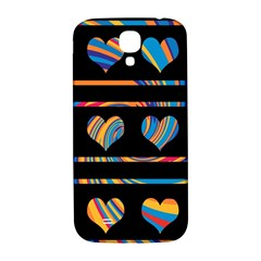 Colorful harts pattern Samsung Galaxy S4 I9500/I9505  Hardshell Back Case