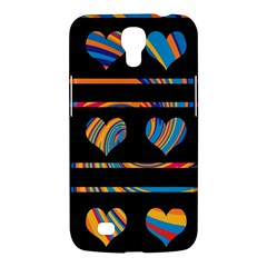 Colorful harts pattern Samsung Galaxy Mega 6.3  I9200 Hardshell Case