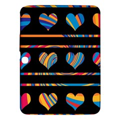 Colorful harts pattern Samsung Galaxy Tab 3 (10.1 ) P5200 Hardshell Case