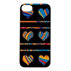 Colorful harts pattern Apple iPhone 5S/ SE Hardshell Case