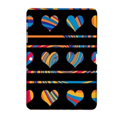Colorful harts pattern Samsung Galaxy Tab 2 (10.1 ) P5100 Hardshell Case