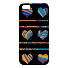 Colorful harts pattern iPhone 5S/ SE Premium Hardshell Case