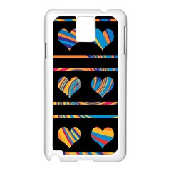 Colorful harts pattern Samsung Galaxy Note 3 N9005 Case (White)