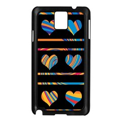 Colorful harts pattern Samsung Galaxy Note 3 N9005 Case (Black)
