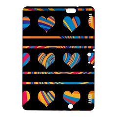 Colorful harts pattern Kindle Fire HDX 8.9  Hardshell Case
