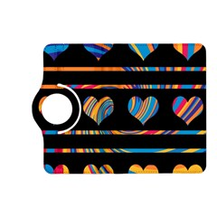 Colorful harts pattern Kindle Fire HD (2013) Flip 360 Case