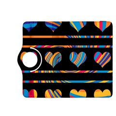 Colorful harts pattern Kindle Fire HDX 8.9  Flip 360 Case