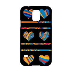 Colorful harts pattern Samsung Galaxy S5 Hardshell Case