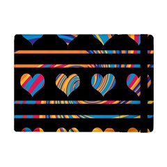 Colorful harts pattern iPad Mini 2 Flip Cases