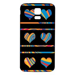Colorful harts pattern Samsung Galaxy S5 Back Case (White)