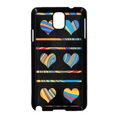 Colorful harts pattern Samsung Galaxy Note 3 Neo Hardshell Case (Black)
