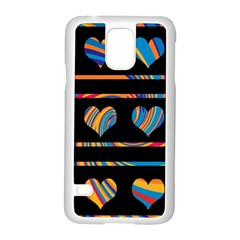 Colorful harts pattern Samsung Galaxy S5 Case (White)