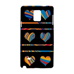 Colorful harts pattern Samsung Galaxy Note 4 Hardshell Case