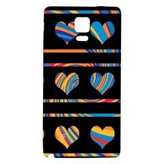 Colorful harts pattern Galaxy Note 4 Back Case