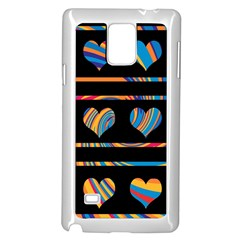 Colorful harts pattern Samsung Galaxy Note 4 Case (White)
