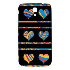 Colorful harts pattern Samsung Galaxy Mega I9200 Hardshell Back Case