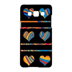 Colorful harts pattern Samsung Galaxy A5 Hardshell Case