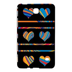 Colorful harts pattern Samsung Galaxy Tab 4 (7 ) Hardshell Case