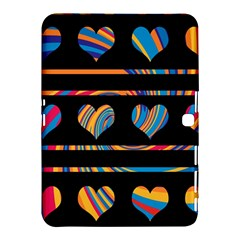 Colorful harts pattern Samsung Galaxy Tab 4 (10.1 ) Hardshell Case