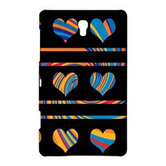 Colorful harts pattern Samsung Galaxy Tab S (8.4 ) Hardshell Case