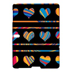 Colorful harts pattern Samsung Galaxy Tab S (10.5 ) Hardshell Case