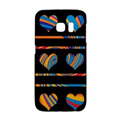 Colorful harts pattern Galaxy S6 Edge