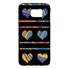 Colorful harts pattern Galaxy S6