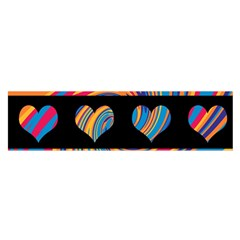 Colorful harts pattern Satin Scarf (Oblong)