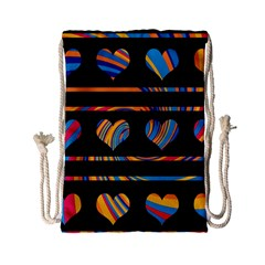 Colorful harts pattern Drawstring Bag (Small)