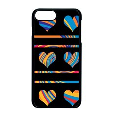 Colorful harts pattern Apple iPhone 7 Plus Seamless Case (Black)