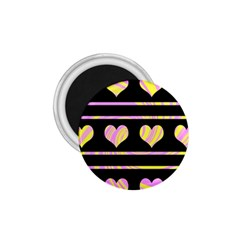 Pink and yellow harts pattern 1.75  Magnets