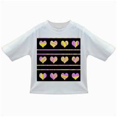 Pink and yellow harts pattern Infant/Toddler T-Shirts