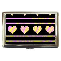 Pink and yellow harts pattern Cigarette Money Cases
