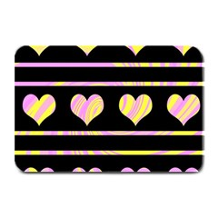 Pink and yellow harts pattern Plate Mats