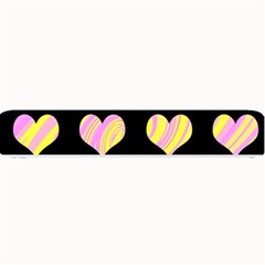 Pink and yellow harts pattern Small Bar Mats