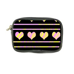Pink and yellow harts pattern Coin Purse