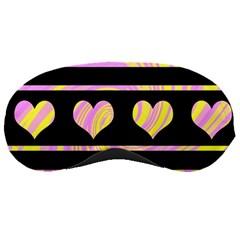 Pink and yellow harts pattern Sleeping Masks