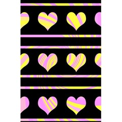 Pink and yellow harts pattern 5.5  x 8.5  Notebooks
