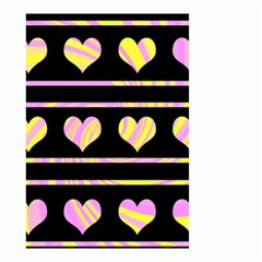 Pink and yellow harts pattern Small Garden Flag (Two Sides)
