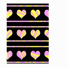 Pink and yellow harts pattern Large Garden Flag (Two Sides)