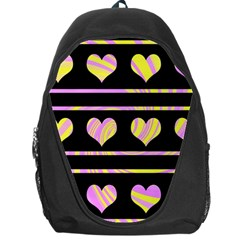 Pink and yellow harts pattern Backpack Bag