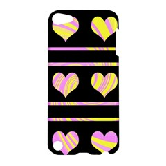 Pink and yellow harts pattern Apple iPod Touch 5 Hardshell Case