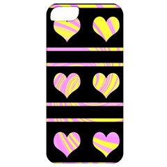 Pink and yellow harts pattern Apple iPhone 5 Classic Hardshell Case