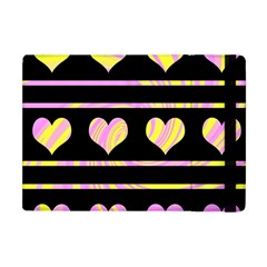Pink and yellow harts pattern Apple iPad Mini Flip Case