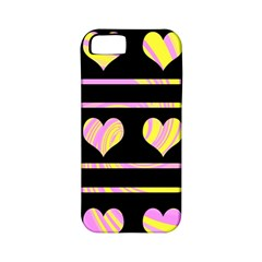 Pink and yellow harts pattern Apple iPhone 5 Classic Hardshell Case (PC+Silicone)
