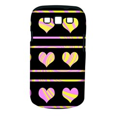 Pink and yellow harts pattern Samsung Galaxy S III Classic Hardshell Case (PC+Silicone)