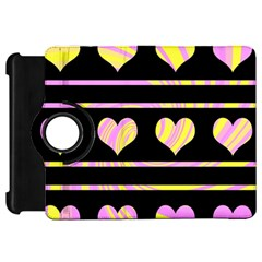 Pink and yellow harts pattern Kindle Fire HD 7
