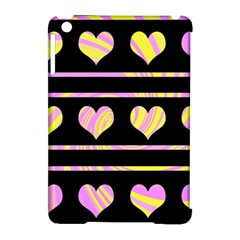 Pink and yellow harts pattern Apple iPad Mini Hardshell Case (Compatible with Smart Cover)